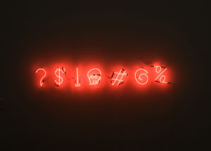 Black Background With Red Neon Writing